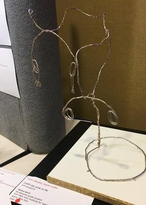 Jessica Karim's wire sculpture of a tree