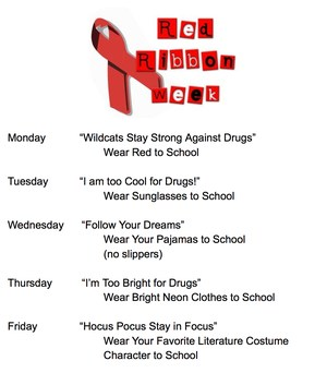 Red Ribbon Week events flyer
