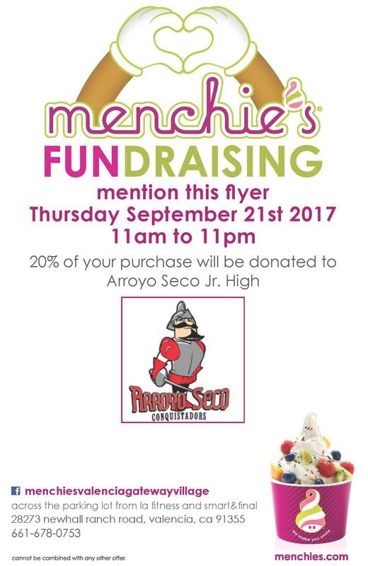 Menchie's Fundraiser Flyer