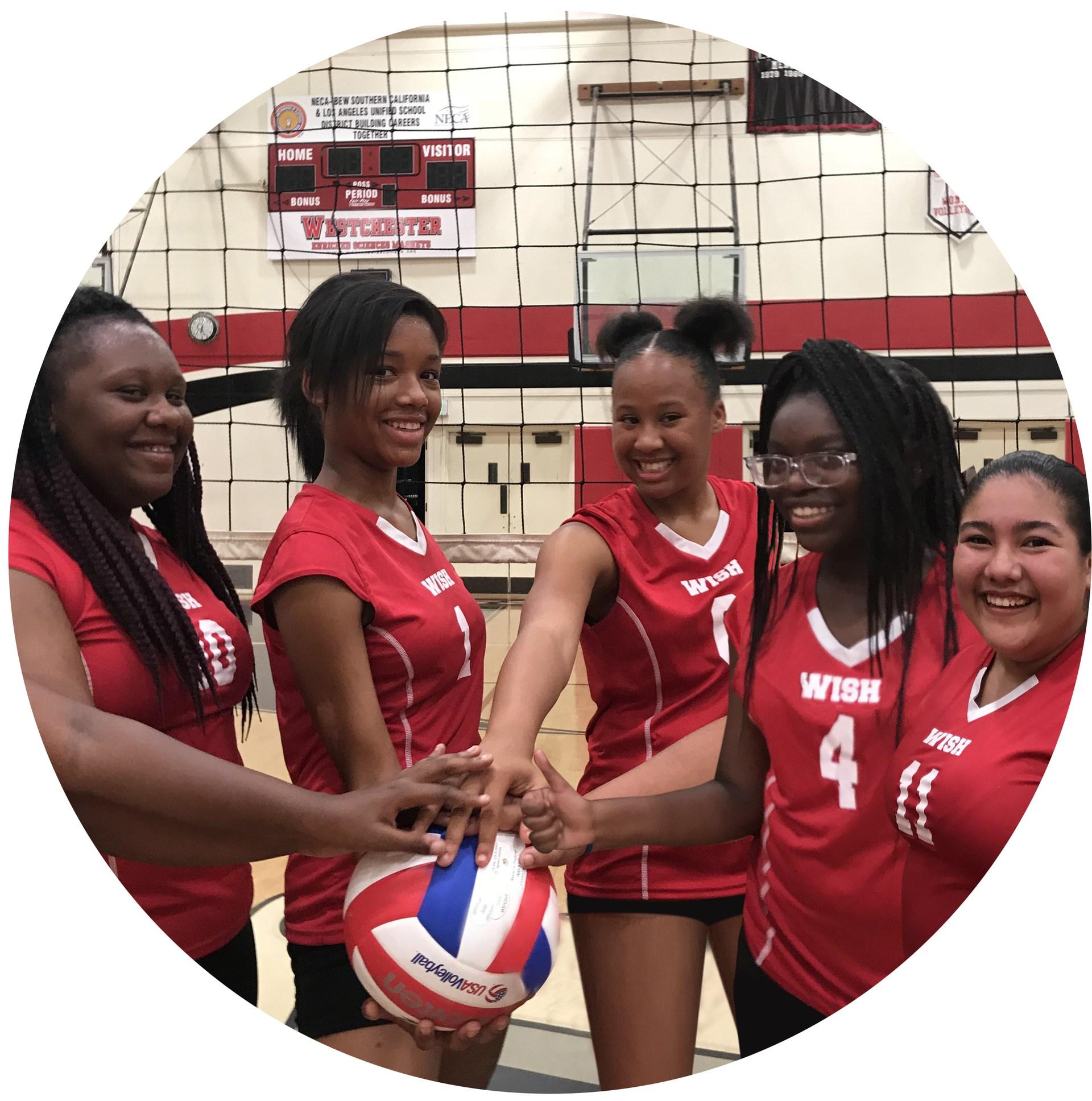 WISH Academy Girls Volleyball Team.