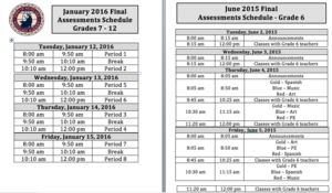 End of Semester Jan 2016 Assessment Schedule.png