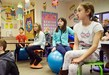 "Mars Area  Elementary School students in Jamie Waters' fourth grade class are introduced to their classroom's new ""flexible"" seating, which includes balance balls, wobble stools and more."