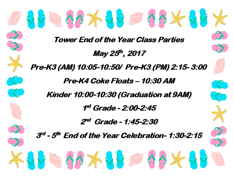 Tower Class Party Schedule Thumbnail Image