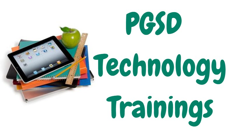 PGSD Tech Trainings