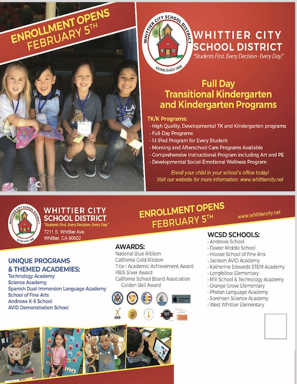 WCSD Enrollment Flyer