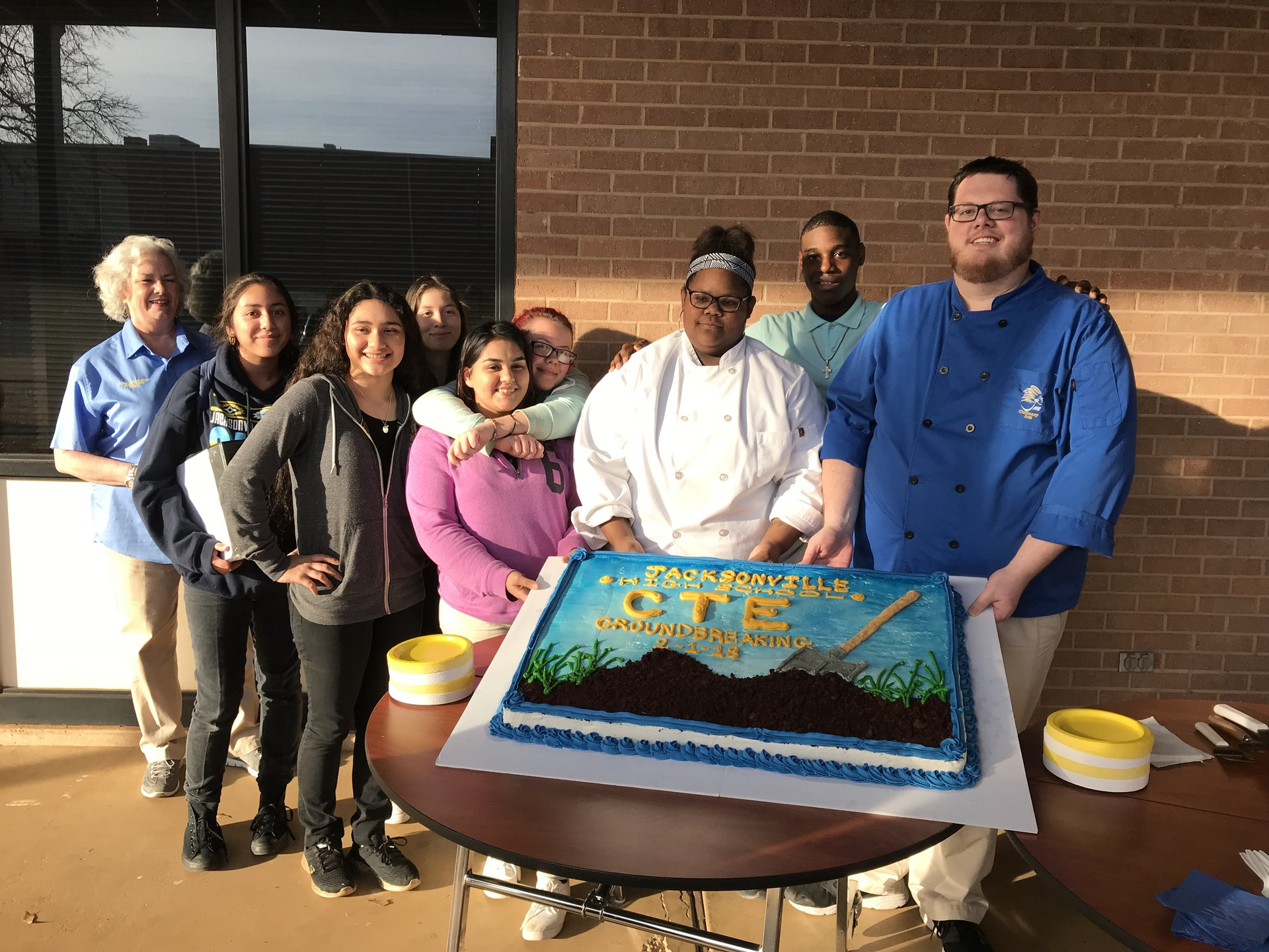 Culinary arts cake for groundbreaking