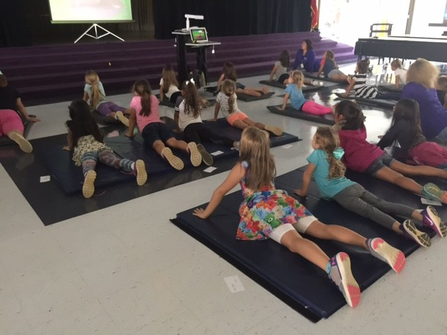 CTE Students in C.L.U.B. Doing Yoga