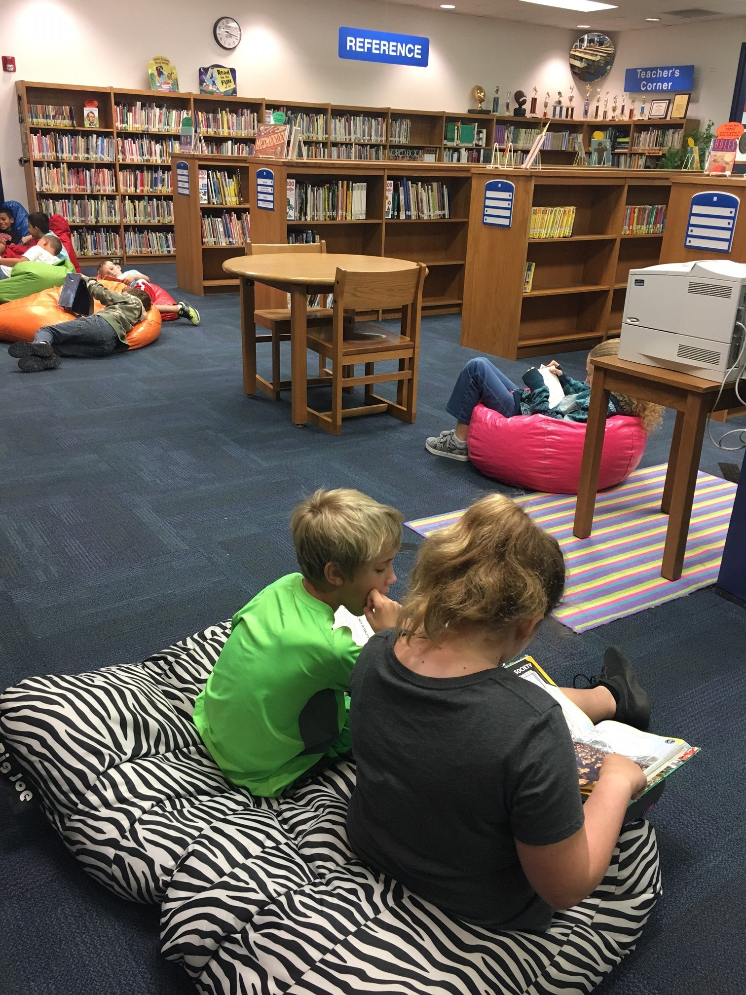 Reading on Bean Bags