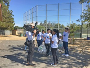 Del Mar High student Sonali Ranaweera and group Recycling Picture 1
