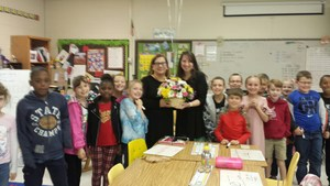Teacher of the year with her class.