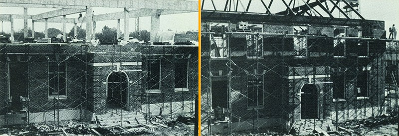 Construction at HPHS from 1968