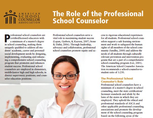 Mission Statement & Counselor Role – School Counseling – Alhambra High