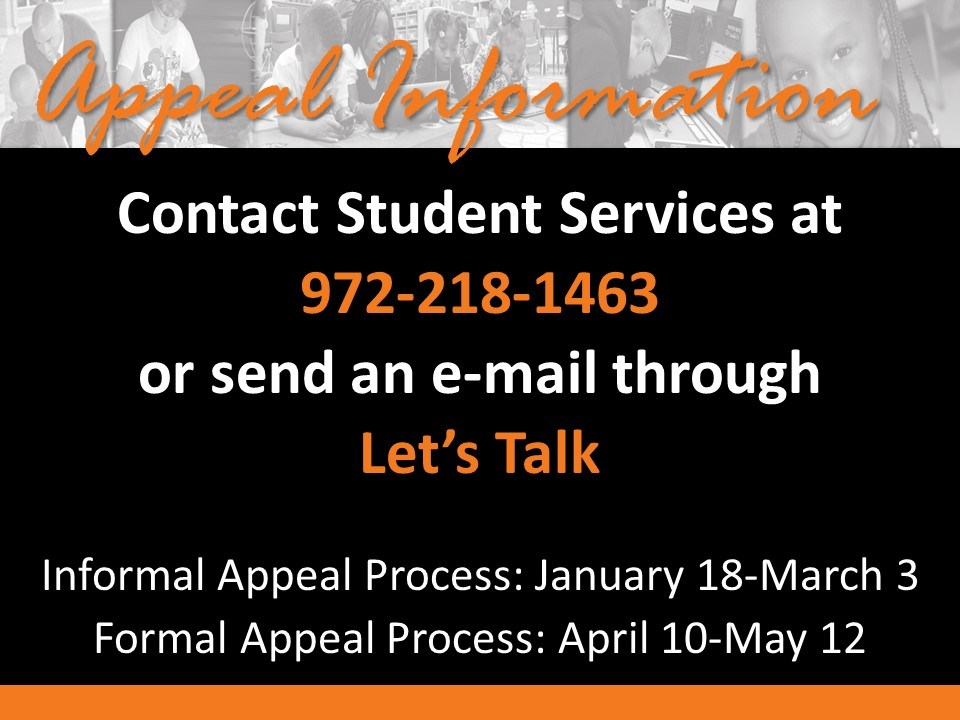 Contact Student Services graphic