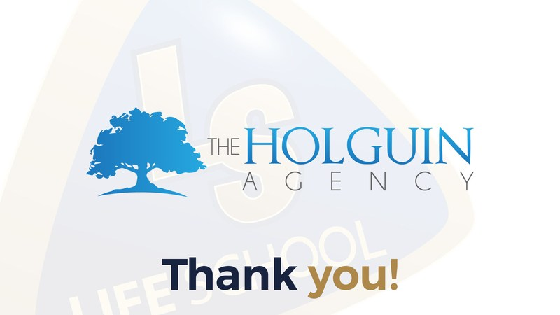 Holguin agency logo and thank you