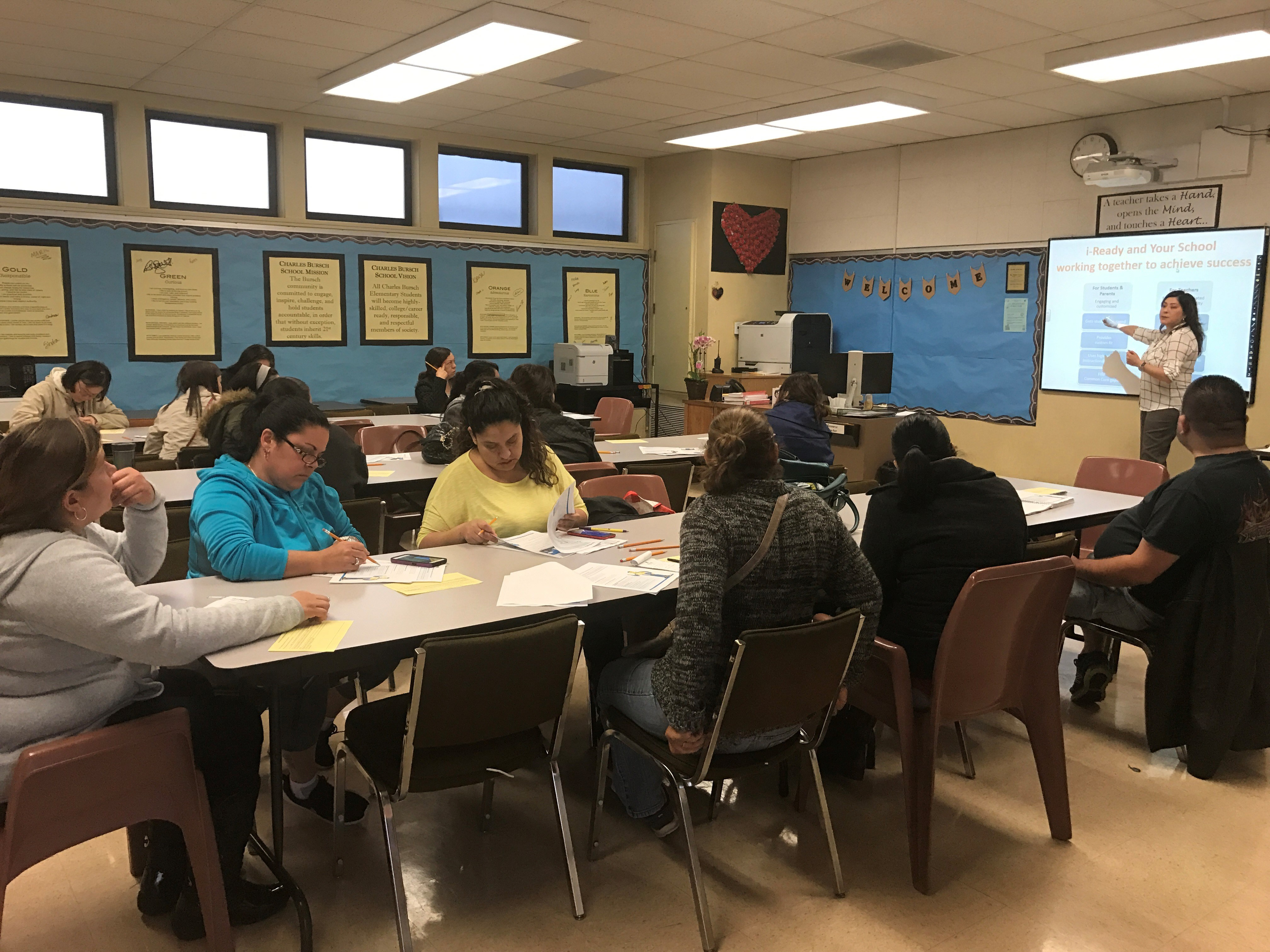 parents learning about iReady