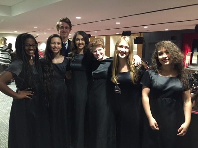 All Region Choir Members in uniform