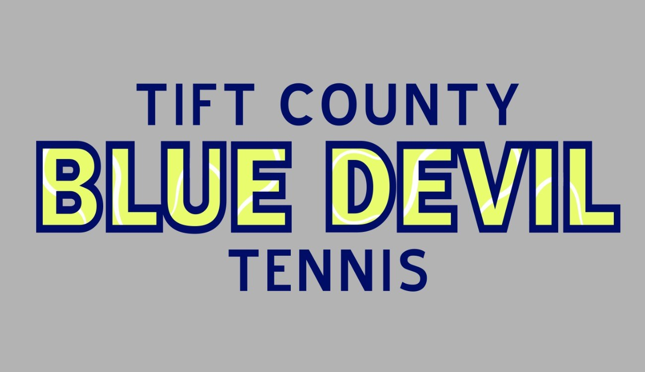 blue devil tennis banner