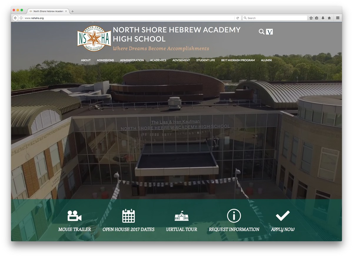 North Shore Hebrew Academy Website Screenshot
