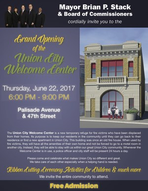 Union City Welcome Center Grand Opening Flyer