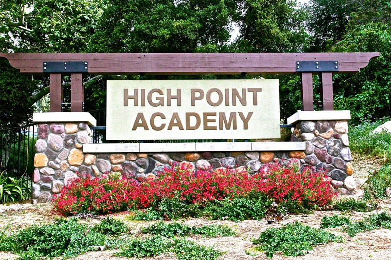 High Point Academy welcome sign.