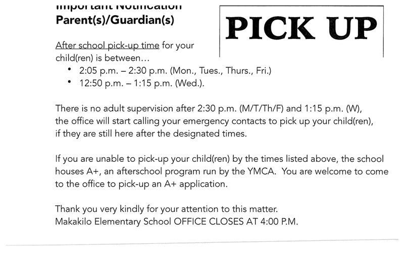 After school pick-up time for your child(ren) is between.... Featured Photo