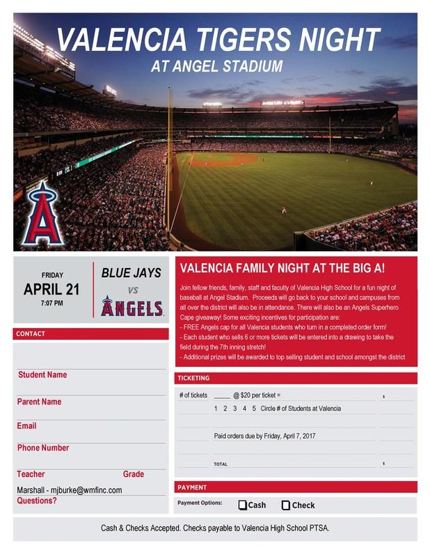 Tiger Family Night at Angel Game - April 21 Thumbnail Image