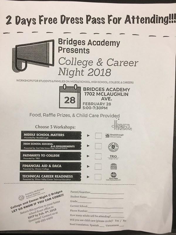Bridges Academy College & Career Night Thumbnail Image