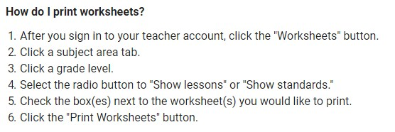 How to print a worksheet