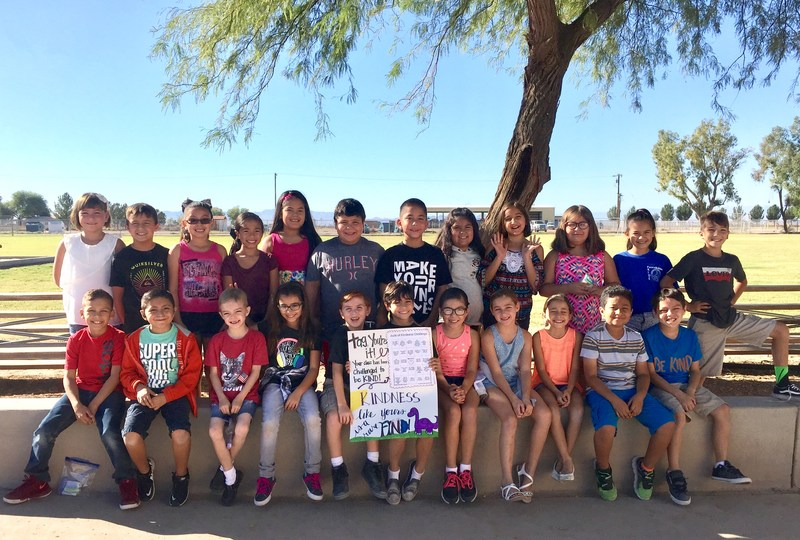 Mrs. LeBaron's 3rd grade class spreads of kindness around the McCabe campus! Thumbnail Image