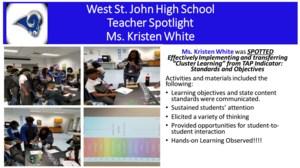 WSJH Teacher Spotlight - Ms. White