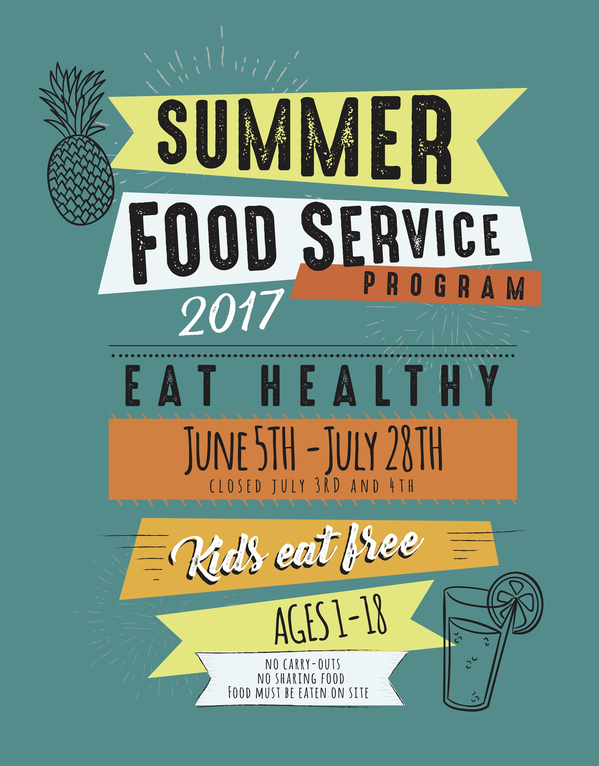 WCS Summer Food Program Flyer Front