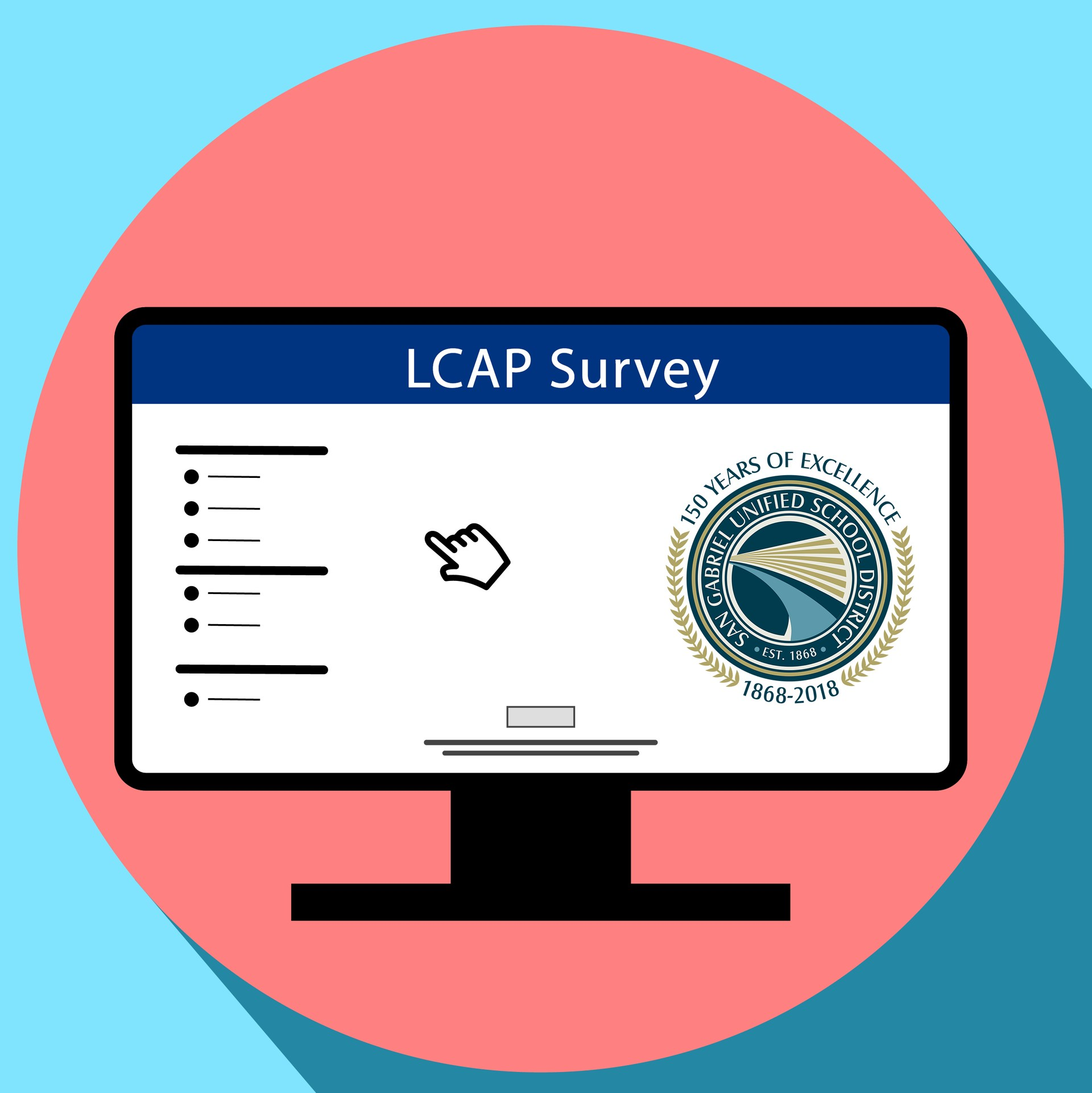LCAP Survey Icon in a monitor