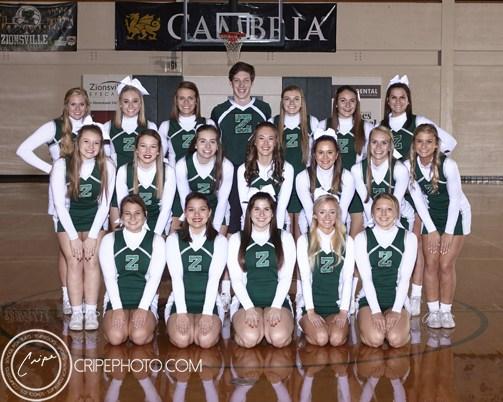 2017-18 Varsity Winter Cheerleaders