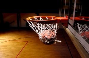Ball going through net photo