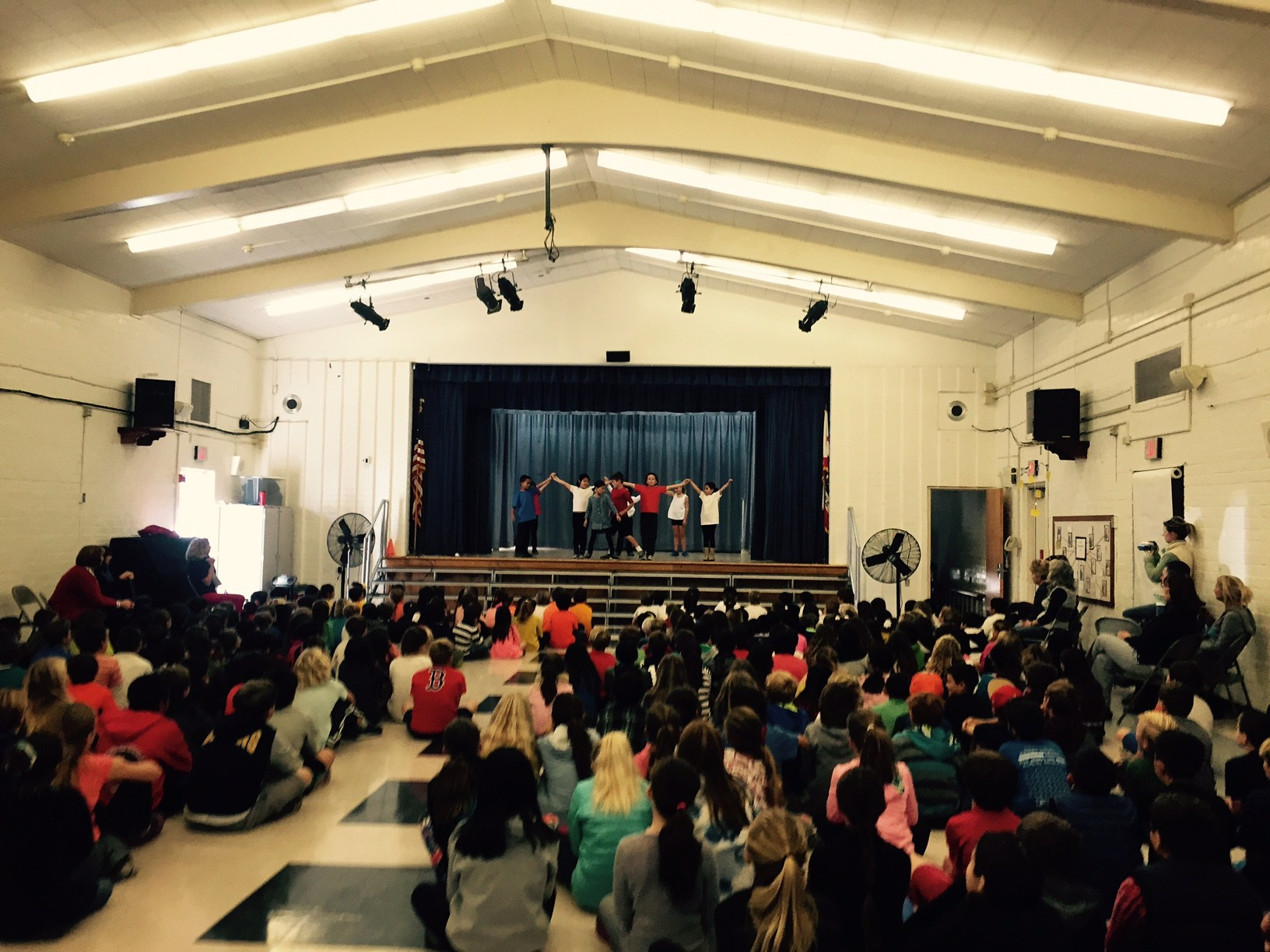 Students perform in the MPR for the school