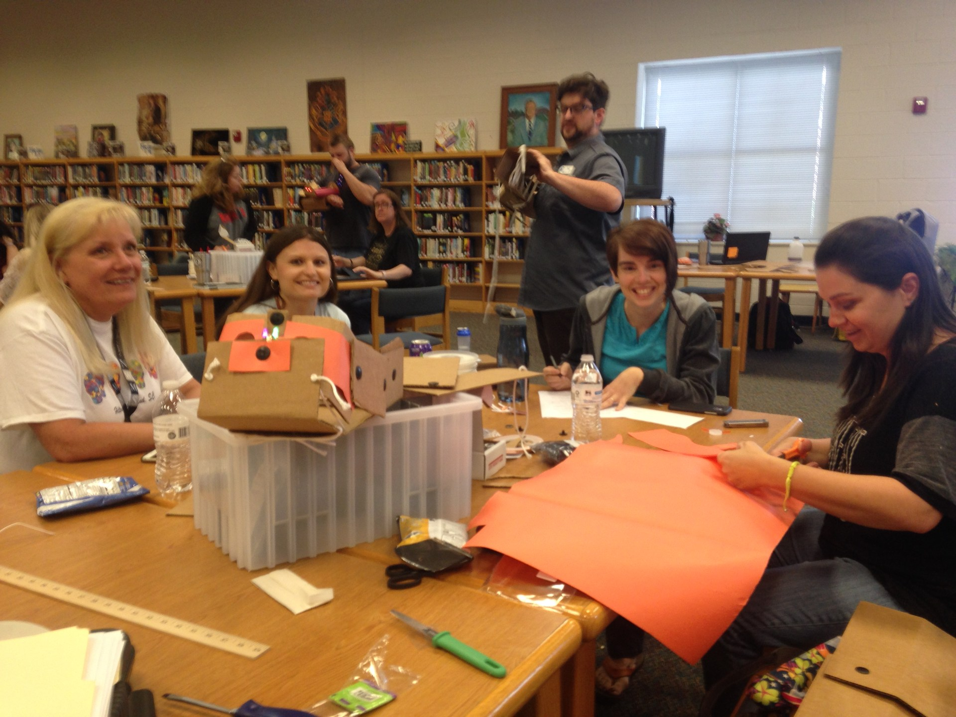 Teachers participating in MakerSpace Training