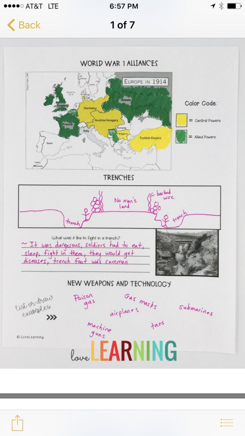 WWI Study Guide of 2