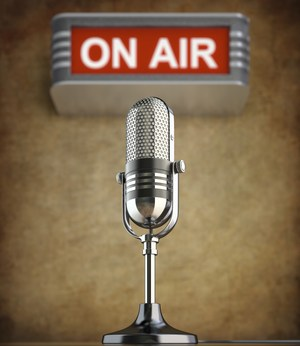 Radio Microphone with words ON AIR
