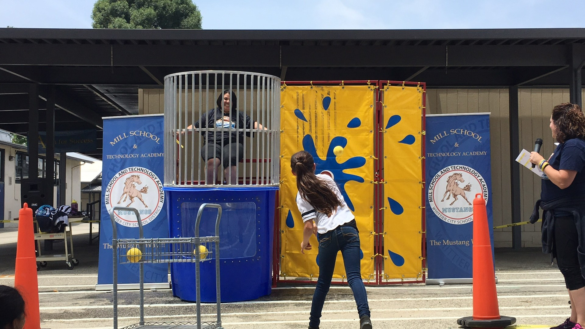 Dunk a teacher