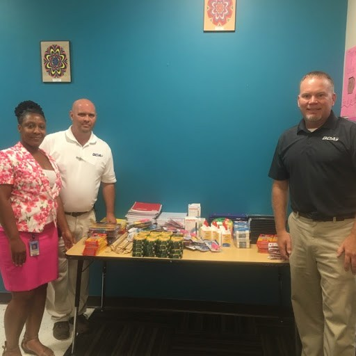 GCA 1 of 3   GCA Presents School Supplies to Elementary Schools