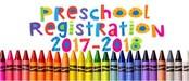 Preschool 2017-2018 Registration With crayons