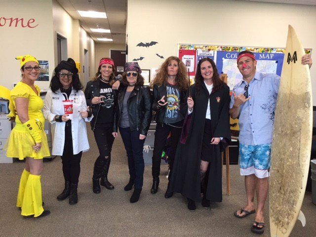 Photo of Staff wearing costumes at the 2016 Halloween Party