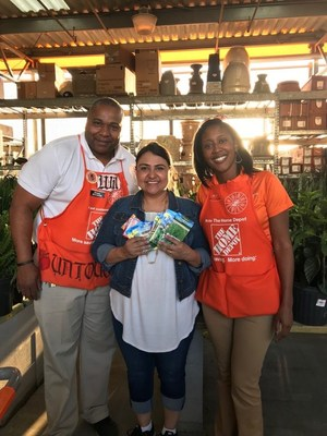 Home Depot Staff and Seed Donation to Houston Elementary