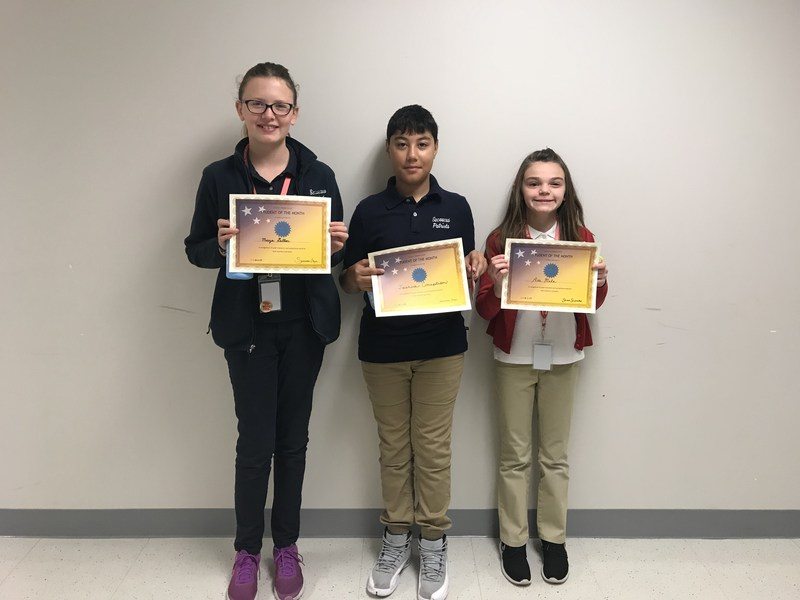 SMS Students of the Month October 2017 Thumbnail Image