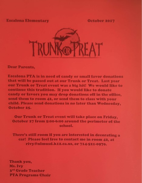 Trunk or Treat Candy Donations Needed! Featured Photo