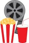 movie reel, popcorn, pop
