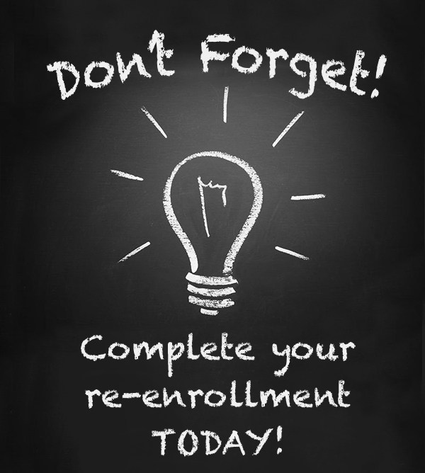 Re-Enroll TODAY! Featured Photo