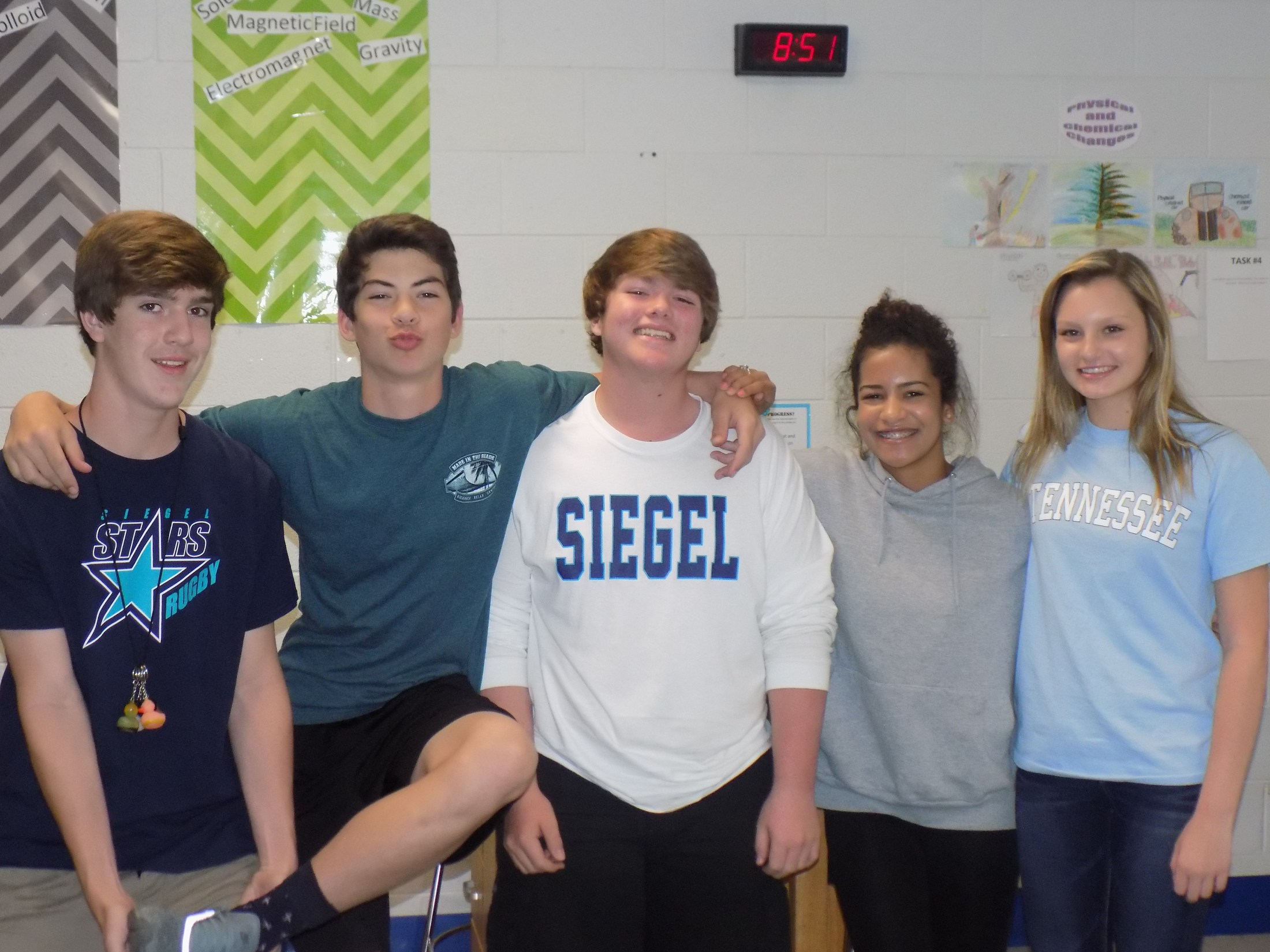 8B science students