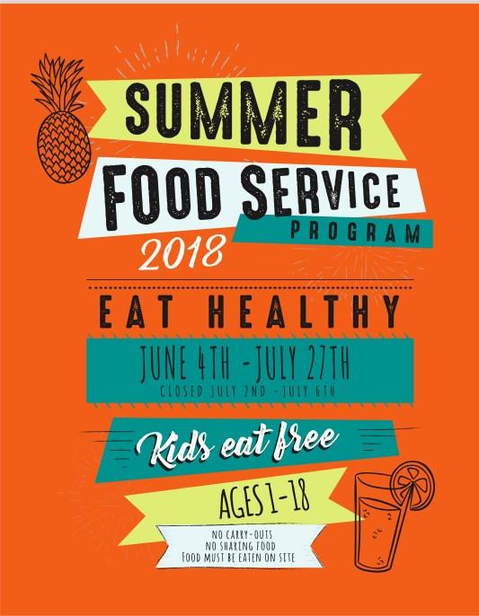 Wabash City Schools Summer Food Program Flyer front