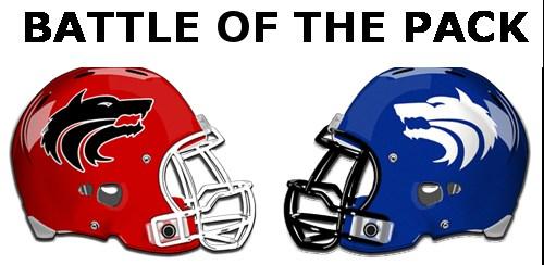 SA Football Helmet and Wolfe City Football Helmet